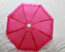 "Doll BJD SD size Dollfie 1/3 scale Umbrella Parasol 18"" American Girl Toy D Pink"