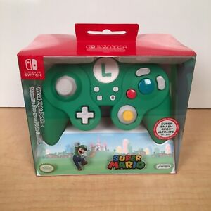 Nintendo Switch Wired GameCube Style Controller Super Mario Luigi - PDP New