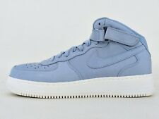 NikeLab Air Force 1 Mid Sz 14 Blue Grey 905618-400 Leather Classic PRM NSW DS