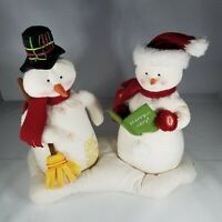 Hallmark Jingle Pals Caroling Snowmen Animated Musical Plush Christmas 2003