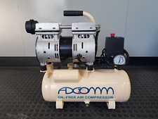 Compressore Aria Compressa Silenziato 10 Litri Portatile Oil-Free 46 dB