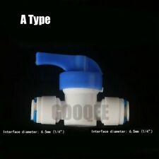 RO Ball Valve Water Reveser Osmosis Aquarium System Fittings 1/4""