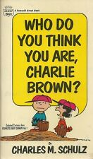 Who Do You Think You Are, Charlie Brown? 1968 Humor Vintage Near Fine