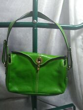 KATE SPADE GREEN LEATHER SMALL HANDBAG IN GOOD CONDITION