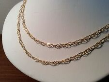 NEW  36 inch open weave 14k   - GLITTER     CHAIN - ELEGANT & COMFORTABLE