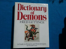 DICTIONARY OF DEMONS BY FRED GETTING  (1988) - RIDER -  HANDY REFERENCE BOOK