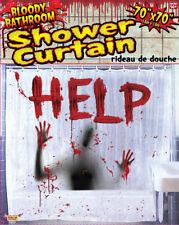 Forum Novelties Bloody Bathroom Shower Curtain, Red (75037)