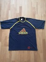 Vintage Retro 90s Adidas Basketball Blue T Shirt - Fits Large - VGC