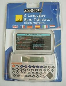 6 Language Euro Translator Dick Smith Currency Convertor Games 100% working