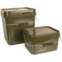 Trakker Olive Square Bait Buckets - 5ltr or 17ltr Available