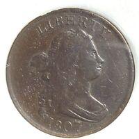 1807 1/2C Draped Bust Half Cent (59284)