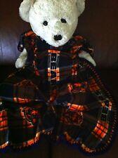 "Chicago Bears Plaid Football Fleece Sports Baby Blanket 30X36"""