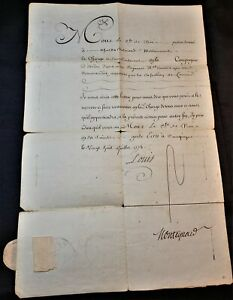 KING LOUIS XV SIGNED MILITARY ORDER  WITH DRY SEAL - 1773 König von Frankreich