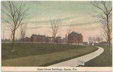 State School Buildings in Sparta WI Postcard