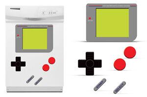 Dry Erase Gamer Decals For Samsung Dishwasher Old School Retro Stickers GAME BOY