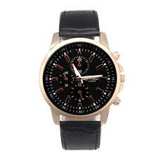 Women Men Simple Casual Watch Quartz Analog Big Dail Leather Band Wrist Watches