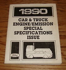 1990 Ford Car & Truck Engine / Emission Special Specifications Issues Book 90