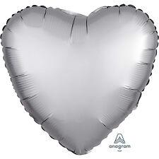 Amscan - Platinum Heart Satin Luxe Standard HX Foil Balloons S15