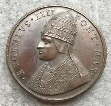 Medaglia Vaticano Eugenio IV Elezione Del Pontefice 44mm 54,50gr