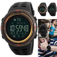 Herren Männer Sport Bluetooth Smartwatch Schrittzähler-Digital Armbanduhr