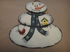 Free Shipping!  Three Tiered Snowman for your Wall or Door - New in Box