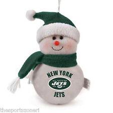 "New York Jets 6"" Plush Snowman Ornament"
