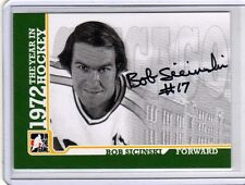 BOB SICINSKI 09/10 ITG 1972 YEAR IN HOCKEY Auto A-BSC Autograph Hard-Signed