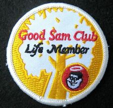 GOOD SAM CLUB EMBROIDERED SEW ON  PATCH LIFE MEMBER