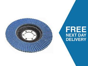 "115mm Flap Discs 4.5"" | 40 60 80 120 Grit | Zirconium Oxide | use Angle Grinder"