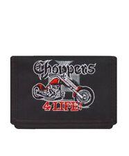 Kid's Motorcycle Chopper Tri-Fold Wallet Slim Cash Card Photo Id Pockets
