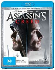 Assassin's Creed (3D Blu-ray ONLY, 2017 NO 2D) Req 3D TV etc BRAND NEW IN STOCK