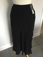 Marks & Spencer's Ladies Black Elasticated Waist Layered Skirt Size 12. BNWT.