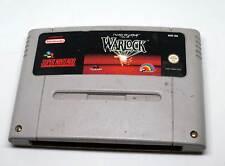 Super Nintendo juego Game módulo SNES-Beware the Ultimate Evil of Warlock