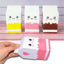 Cute Milk Jumbo Squishy Carton Box Wholesalers Slow Rising Phone Straps Scented