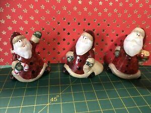 3 China Figures Christmas Cake Decorations