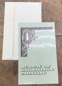 Uncut $1 Bill Sheet of 4 - Series 1993 - Bureau of Engraving