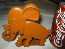 # 2 Spencer Guilford Connecticut Usa Childs Toy Size Cast Iron Elephant Doorstop