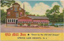 Old Mill Inn Restaurant in Spring Lake Heights NJ Postcard 1955