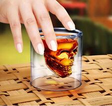 Crystal Skull Head Mug Creative Skull Vodka Wine glasses Double Wall Whisky Cups