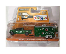 Greenlight Hitch Tow Toys R Us Exclusive 2016 Ford F-150 & Enclosed Car Trailer