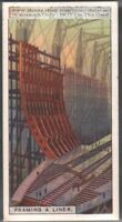 1920s Steel Framing An Ocean Liner Ship 90+ Y/O Ad Trade Card