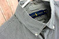Ralph Lauren Mens Size Medium Recent Black White Checks Dress Shirt Long Sleeve
