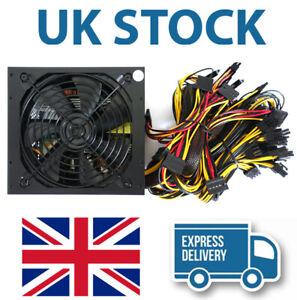 Rated 2000W Modular Mining Power Supply PSU for 8 GPU Eth Rig Ethereum Miner UK