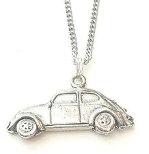 Classic Car VW Pendant Handcrafted in Solid Pewter In The UK + Free GiftBox PN78
