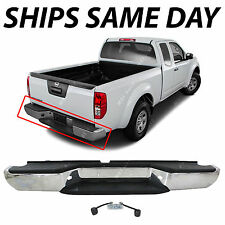 Chrome - Complete Steel Rear Bumper Assembly for 2005-2016 Nissan Frontier Truck