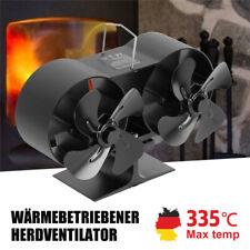 Stromloser Kaminofen Ventilator Fan Für 8 Flügel Gebläse Herd Lüfter Holzofen DE