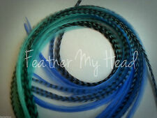 "10 Tie Dye Fade Multi Colored Feather Hair Extension  9""-12"" Long BG1"