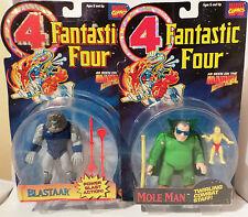 Fantastic FOUR: BLASTAAR & MOLE MAN cardées action figures par Toy Biz