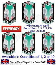 Eveready Brand Pygmy Light Bulb Lamp 1000 Hour 240v Appliance Machine Panel Sign