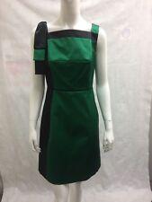 Karen Millen Party Square Neck Dress Midi GREEN £180 UK 10/EU 38/US 6 (A 93 SP)